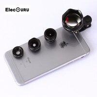 Телефон объектив фотографии 4 в 1 3X HD telelens Full HD Fisheye Широкий формат макро Линзы универсальный зажим для iPhone 5 /5S 6 S 6 plus