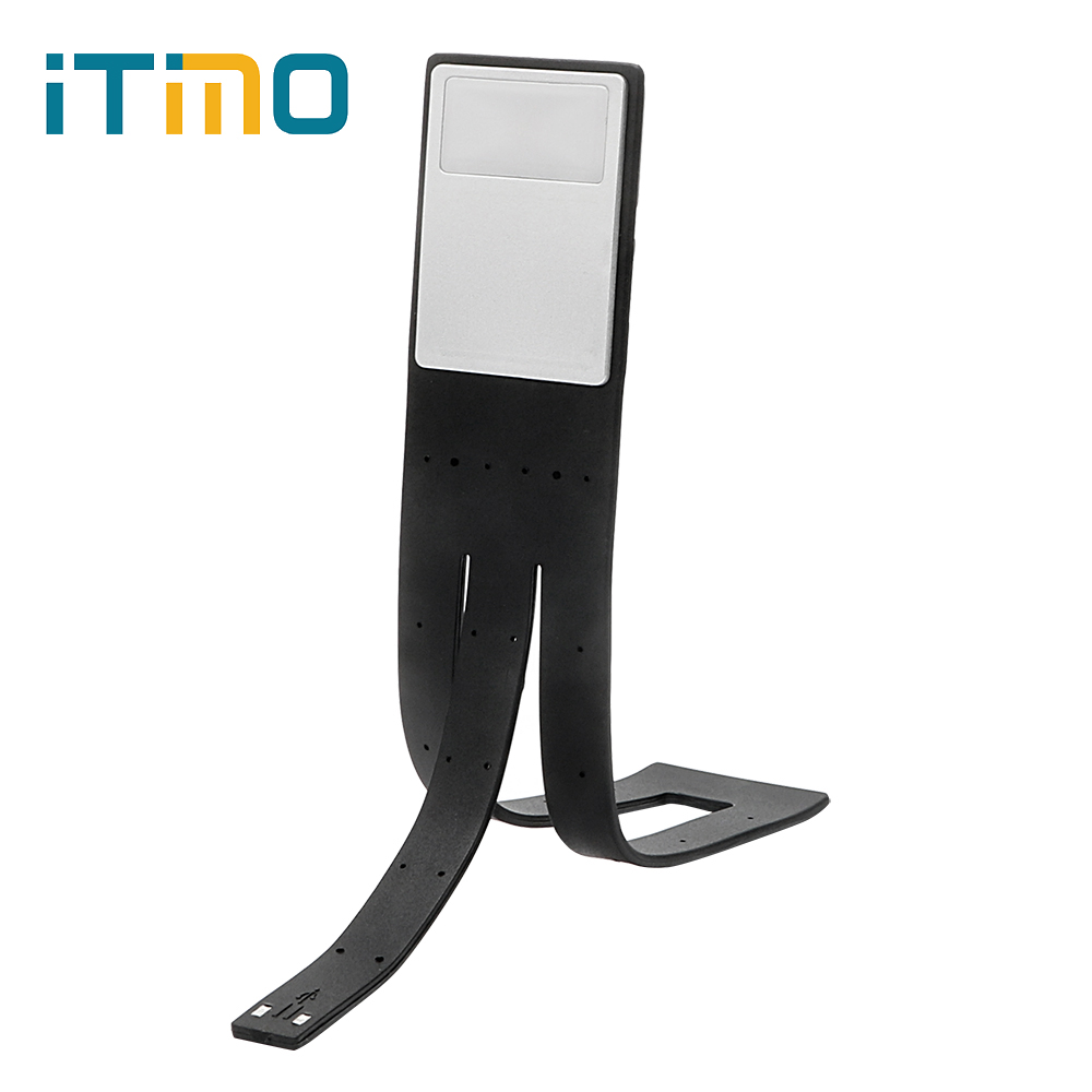 ITimo Clip-on Book Reading Light Folding Flexible Rechargeable LED Book Lights with Battery Adjustable Lamp For Reader Kindle