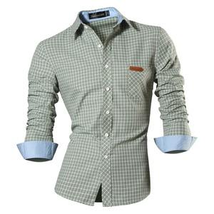 Image 3 - Jeansian primavera outono características camisas dos homens calças de brim casuais camisa nova chegada manga longa casual magro caber camisas masculinas 8615