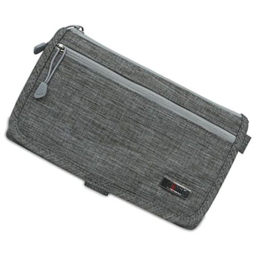 Fashion and New BUBM passport receiving bag multifunctional certificate bag two face design for travel money big capacity Gray