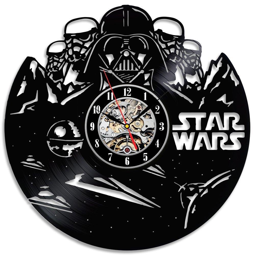 star wars darth vader vinyl wall clock. Black Bedroom Furniture Sets. Home Design Ideas