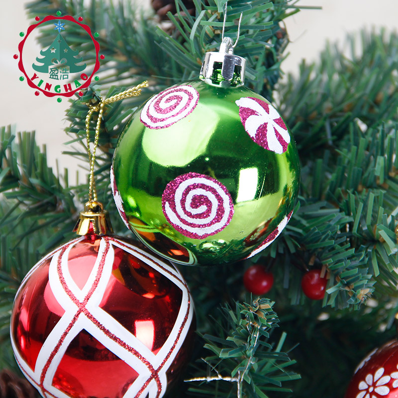 Inhoo 6pcs Global Color Drawing Decorations Ball 6cm Christmas Tree Baubles Hanging Wedding Ornament Xmas Party In Ornaments From Home