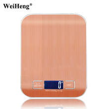 WeiHeng 10000g x 1g Stainless Steel Digital Kitchen Scale Food Diet Cooking Measure Tool 10kg Electronic Weight Balance