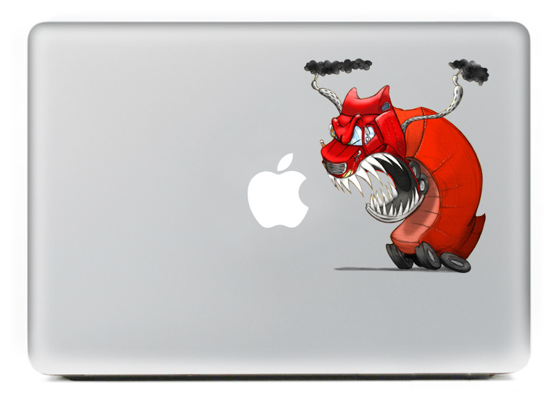 Angry Dragon truck Vulture style Vinyl Decal Laptop Notebook Sticker For DIY Macbook Pro Air 11 13 15 inch Laptop Skin