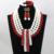 2016 últimas rojo / blanco Tiny perlas chapado en oro de la boda de nigeria collar nupcial indio joyería joyería de traje africana bolas ALJ778