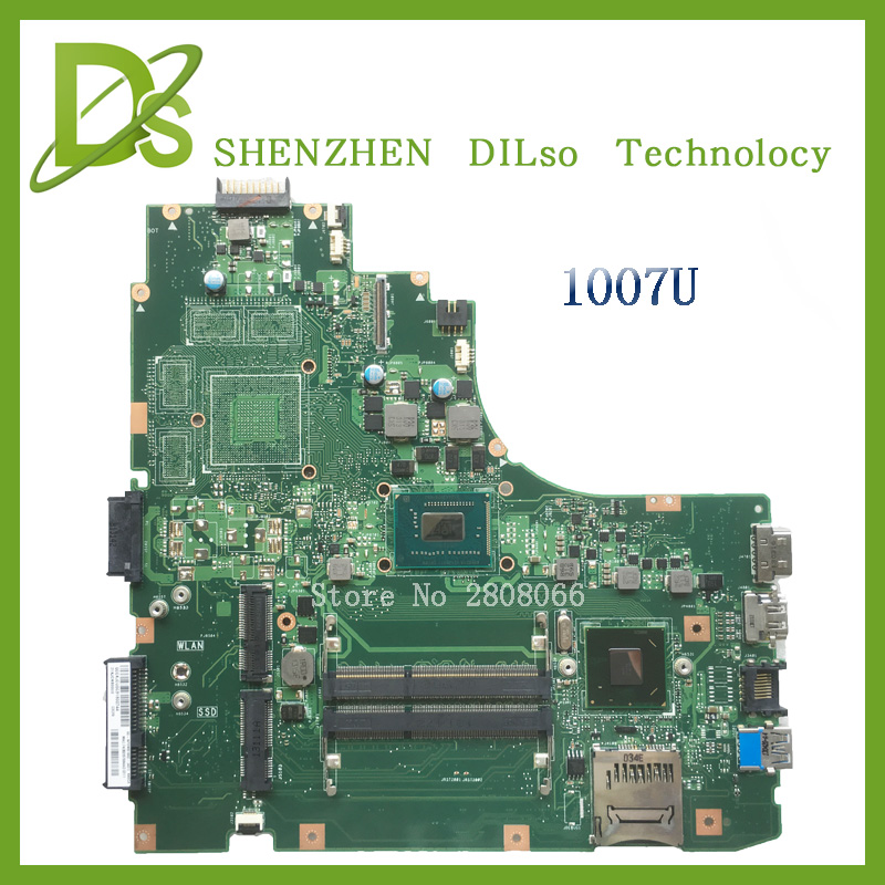 For ASUS Laptop motherboard K46CM A46C K46CA  mainboard  REV2.0 Integrated with cpu 1007U on board  k56cb laptop motherboard for asus with i7 cpu non integrated k56cm mainboard 100