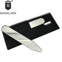 SHANG ZUN 2 PCS Stainless Steel  Collar Bones Stiffeners Stays For Formal Shirts Collar Stays Hot Sale