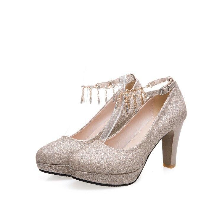 Avec 2018 Demoiselle Nouvelle Mariée Femme Talons Chaussures Mariage Mode Et Hauts D'honneur Color2 color1 À color3 De 80wOPnk