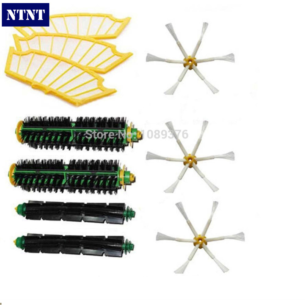 NTNT Free Post New Filters & Brush 6 armed side Pack kit Clean for iRobot Roomba 500 Series ntnt free shipping new 3 6 brush
