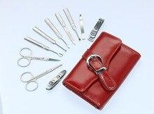 Porfessional 10pcs/set Nail Clipper Kit Nail Care Set Pedicure Scissor Tweezer Ear pick Utility Manicure Set Tools With Bag