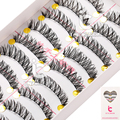 10 Pairs Makeup Handmade Cross Natural False Eyelashes Eye Lashes Extension Long