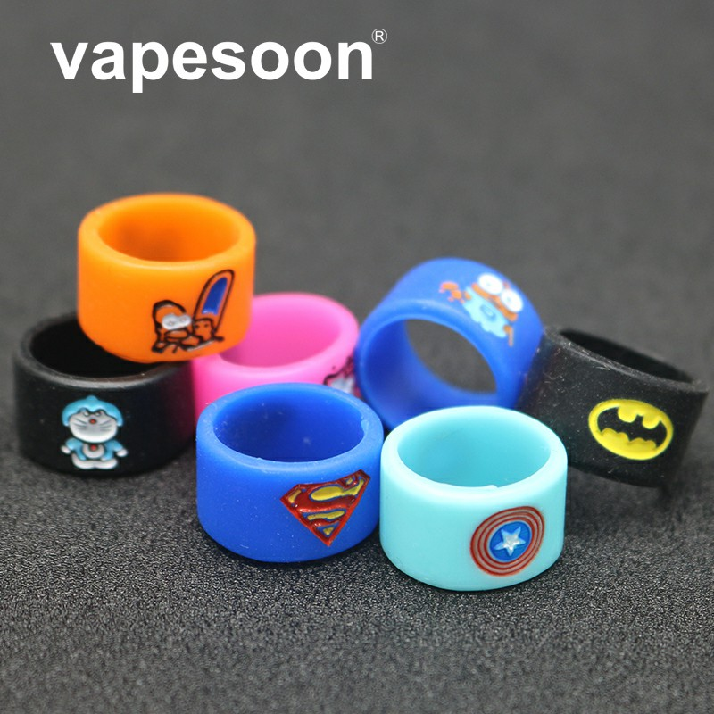 16.5mm Muti-Design Silicone Rubber Vape Ring Rubber Anti Slip Band For Mechanical Mod RBA RDA Vaporizer Tank
