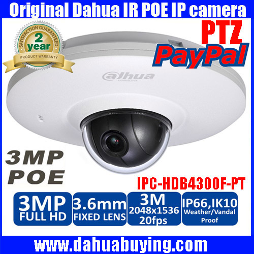 Dahua IPC HDB4300F PT Pan tilt dome network IP security camera 3 6mm Lens Support POE