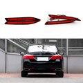 Автомобиль для укладки Для Honda Accord 2013 2014 2015 2016 Красный Линзы СВЕТОДИОДНЫЙ Задний Бампер Отражатель Тормозная Свет Лампы Туман свет