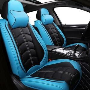 Image 2 - Sport Leder auto sitz abdeckung Für Toyota Corolla Camry Rav4 Auris Prius Yalis Avensis SUV auto zubehör auto styling kissen