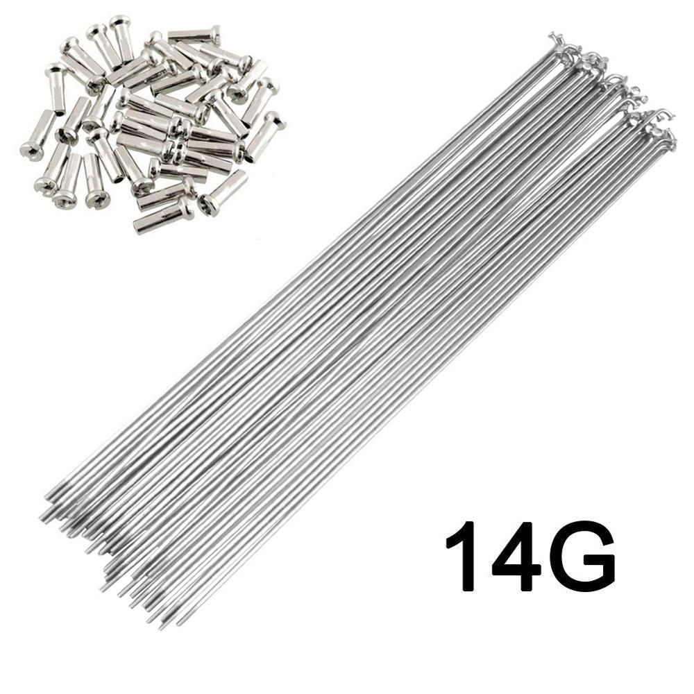 Bicycle Stainless Steel Silver Spokes 36pcs 14G/14K J Bend Bicycle Spokes pls Choose 170-300mm SUS 304 Bike Spokes BZN010