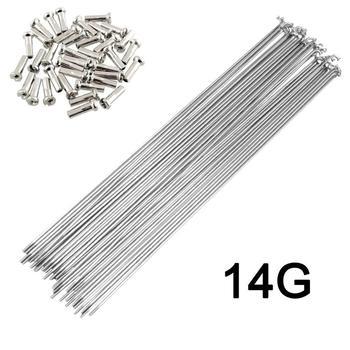 Велосипедные спицы из нержавеющей стали, серебристые спицы, 36 шт., 14 г/14 к, J, поворотные велосипедные спицы, пожалуйста, выберите 170-300 мм SUS 304, ...
