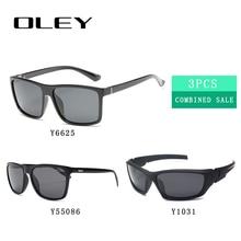 3PCS Combined Sale OLEY High quality polarized men sunglasses