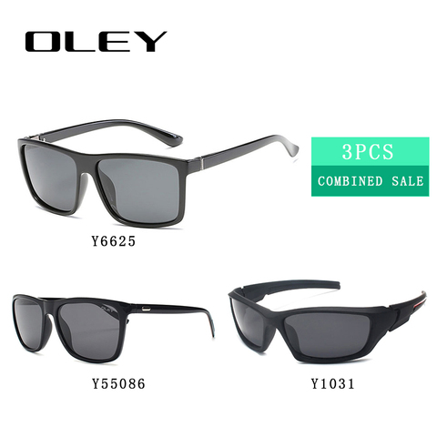 3PCS Combined Sale OLEY High quality polarized men sunglasses  popular combo for 2019 Pakistan