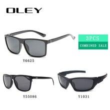 Мужские поляризационные очки OLEY, популярные комбинированные солнцезащитные очки, 3 шт., 2019