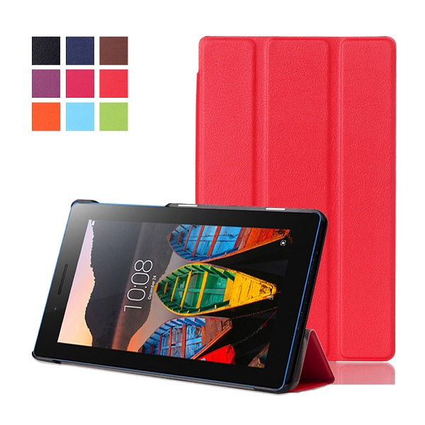 Magnet stand Luxury Pu leather case cover For Lenovo Tab 3 730F 730M 730X 7 inch tablet funda cases for TB3-730F TB3-730M dolmobile ultra slim tri fold pu leather case stand cover for lenovo tab 3 730f 730m 730x tb3 730f tb3 730m screen protector