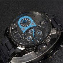 La última V6-0262, ocio reloj de los hombres, 9 trabajo de la aguja, tiempo de visualización digital, calendario reloj de la marca, de gama alta de relojes de moda