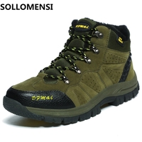 Winter Wear Resistant Men Hiking Shoes Waterproof Trekking Shoes New Breathable Climbing Outdoor Shoes Big Size