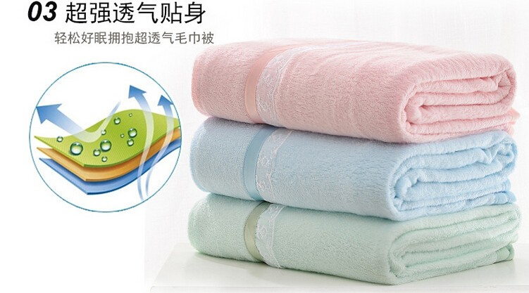 180*200cm High quality bamboo fiber soft terry summer using blanket-bamboo baby blanket-children blanket