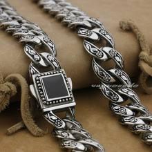 """LINSION 1""""~ 36"""" 316L нержавеющая сталь розы мужские Байкер Рокер панк ожерелье цепь 4R013N"""