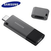SAMSUNG 64GB USB 3.1 Flash Drive 128GB Pen Drive 256GB Flash Memory Stick 32GB Metal USB Key U Disk DUO Plus 300MB/s For Type C