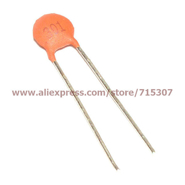 Phiscale 1000pcs Ceramic Capacitors 50v 300pf 0 3nf 0