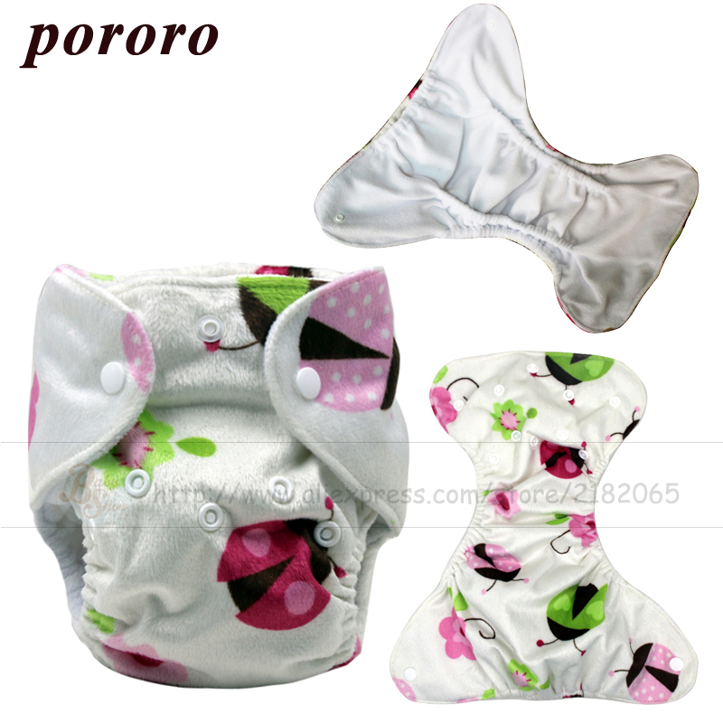 2017 New Arrival Newborn Baby Printed Minky Cloth Diaper Double Leaking Guard Hold Leds Non Leaky Newborn Diaper