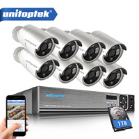 8CH 720P 1080P 5 IN 1 AHD DVR Security System 1200TVL Weatherproof Outdoor AHD Camera 1