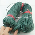 Free shipping 17962 20M 1.5mm Dark Green Wax Cord Hand Woven Rope For Handmade Bracelet Necklace