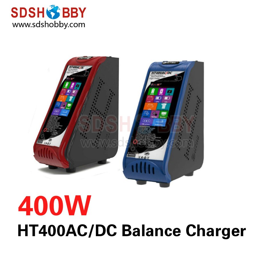 ФОТО htrc ht400ac/dc intelligent balance charger parallel charging board 400w 4.3in touch screen for lipo life nimh nicd pb battery