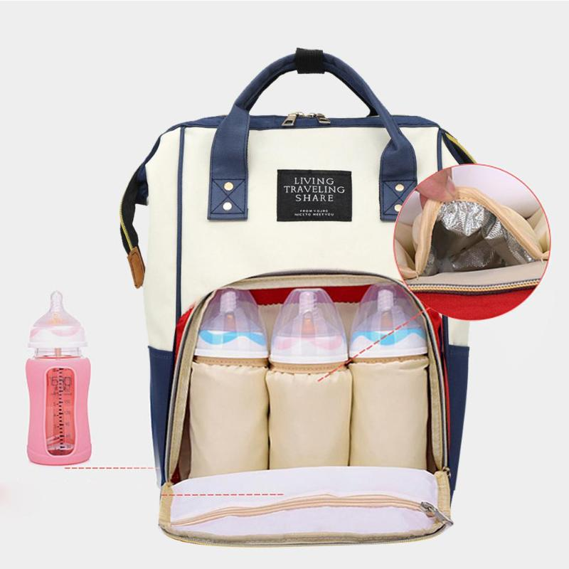 Diaper Bag Pregnant Women Mummy Travel Nappy Bag Large Capacity Waterproof Zipper Maternity Nappy Bag Nursing Bag Baby Organizer