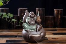 Creative Backflow Censer, Ceramic Incense Burner, Aromatherapy, Smoke Flow, Buddha, Incensory,
