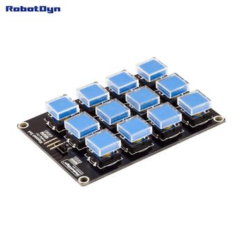 Button Keypad 3x4 module. One analog out. Compatible for Arduino, Raspberry, STM. tsleen 4x4 3x4 matrix keyboard keypad module 12 16 keys button keypad keyboard breadboard switch for arduino controller diy kit