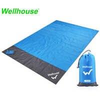 Camping Mat Waterproof Beach Blanket Outdoor Portable Picnic Ground Mat Mattress Outdoor Camping Picnic Mat blanket 1.4*2m