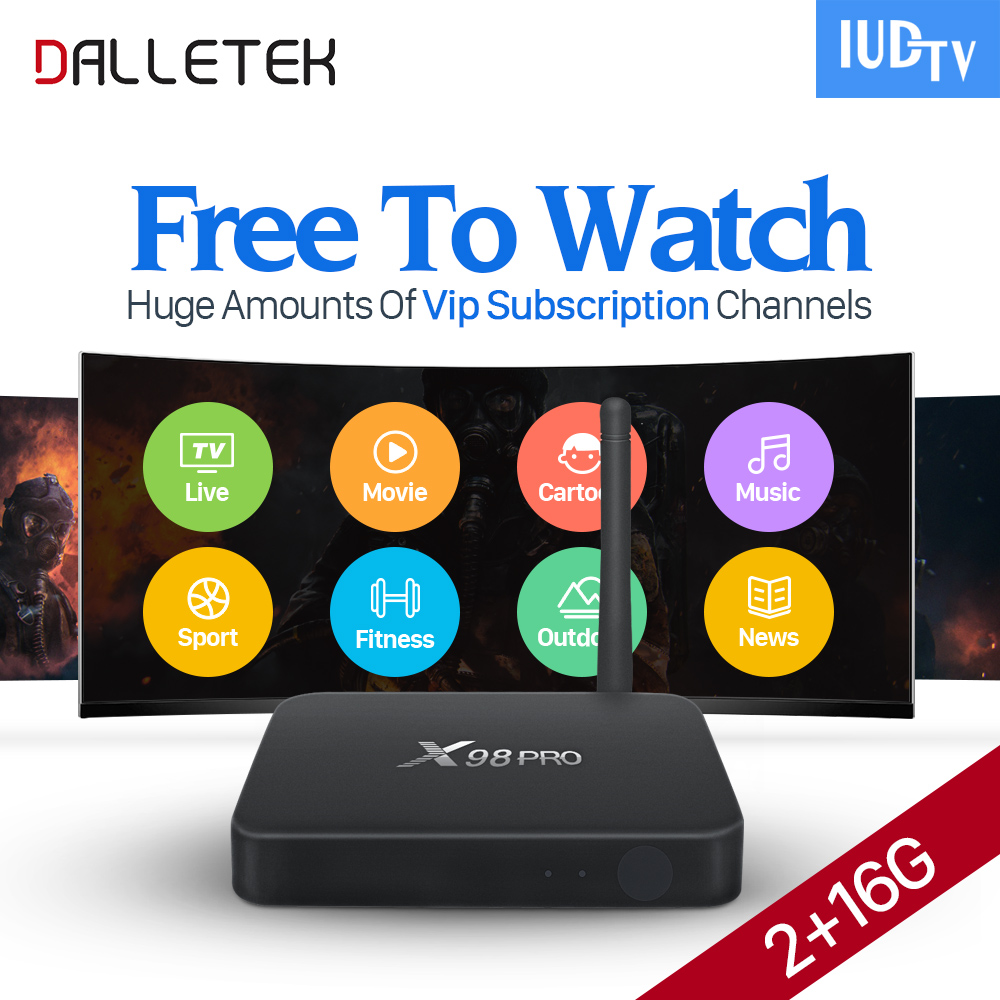 Dalletektv X98 PRO Android 6.0 IPTV Box IPTV 1 Year Subscription IUDTV Code Abonnement Europe Spain UK Arabic French IPTV Box