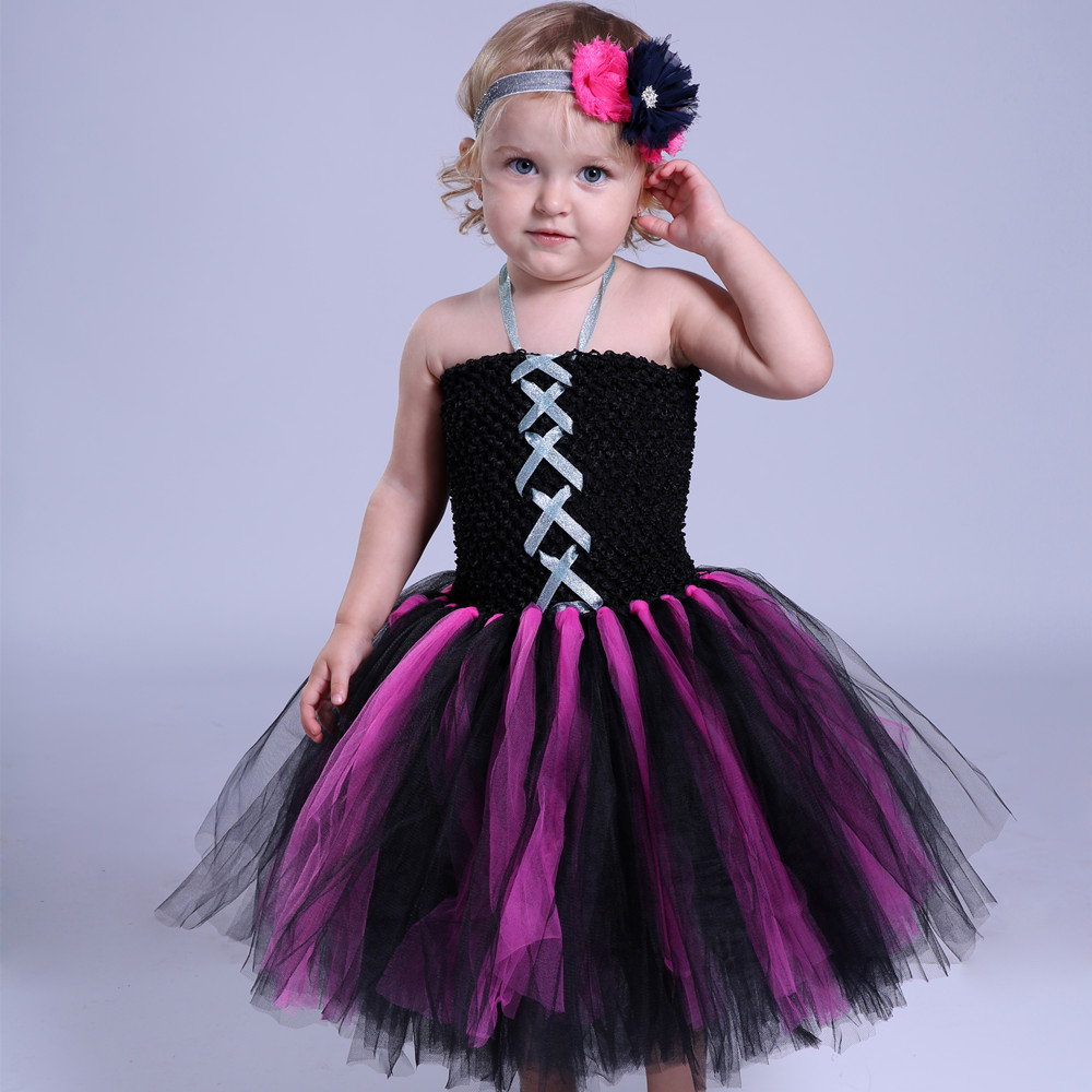 Baby Girls Party Tutu Dress Pumpkin Festival Cosplay Halloween Costume Children Tulle Dress Girl Kids Dance Performance Dresses fancy girl mermai ariel dress pink princess tutu dress baby girl birthday party tulle dresses kids cosplay halloween costume