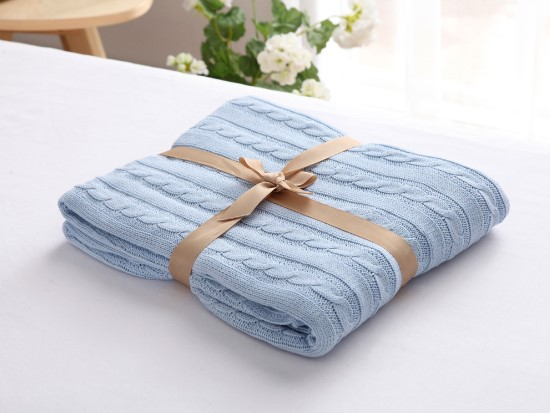 Image 4 - CAMMITEVER 100% Cotton Warm Soft Fleece Blankets Thick Plush Throw Sofa Bed Plane Plaids Solid Bedspreads Home Textile-in Blankets from Home & Garden