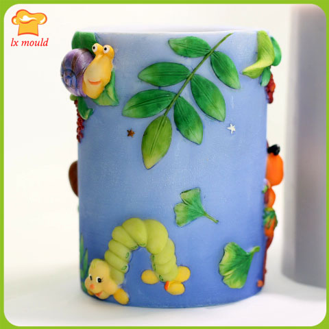 LXYY Cylindrical candle cartoon silicone mold / doll birthday candle - Kitchen, Dining and Bar - Photo 4