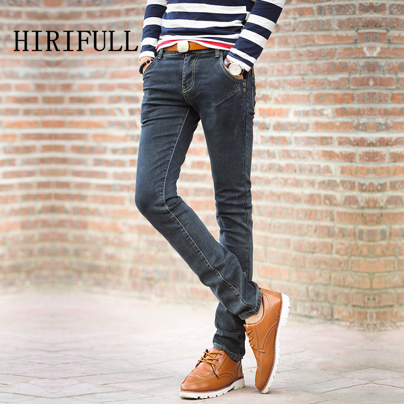 2017 Male Four Seasons Skinny Jeans Men's Brand High Quality Clothing Trend Slim Trousers Male Casual Pants Large Size 27-38 miss chen men s clothing male jeans slim skinny pants male winter trousers