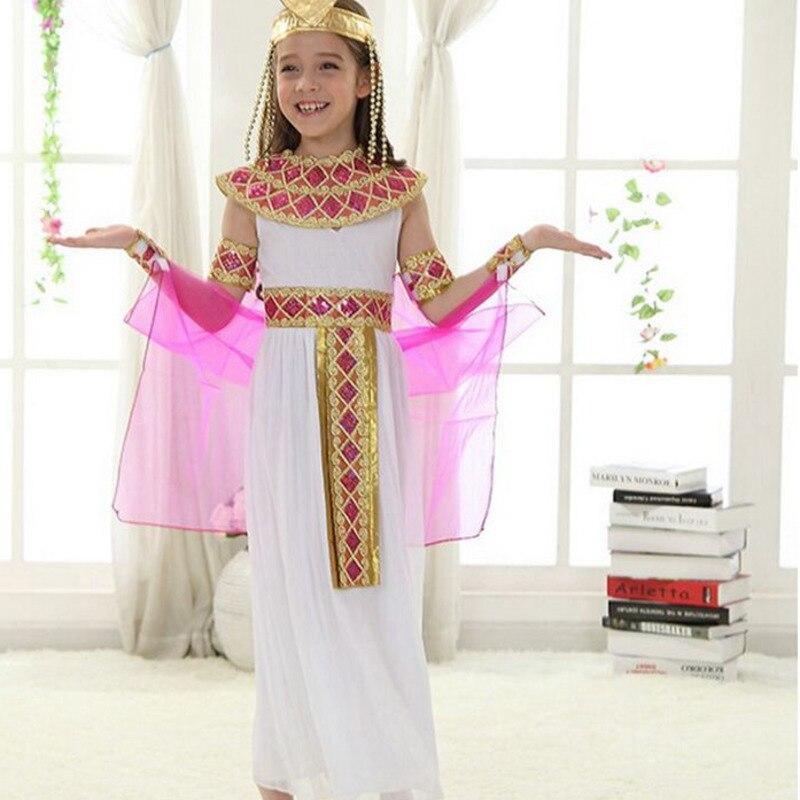 Disfraz de princesa Príncipe Cleopatra, Faraón Egipcio, Egipto antiguo, disfraz de Halloween para niños, ropa de Cosplay para niños y niñas