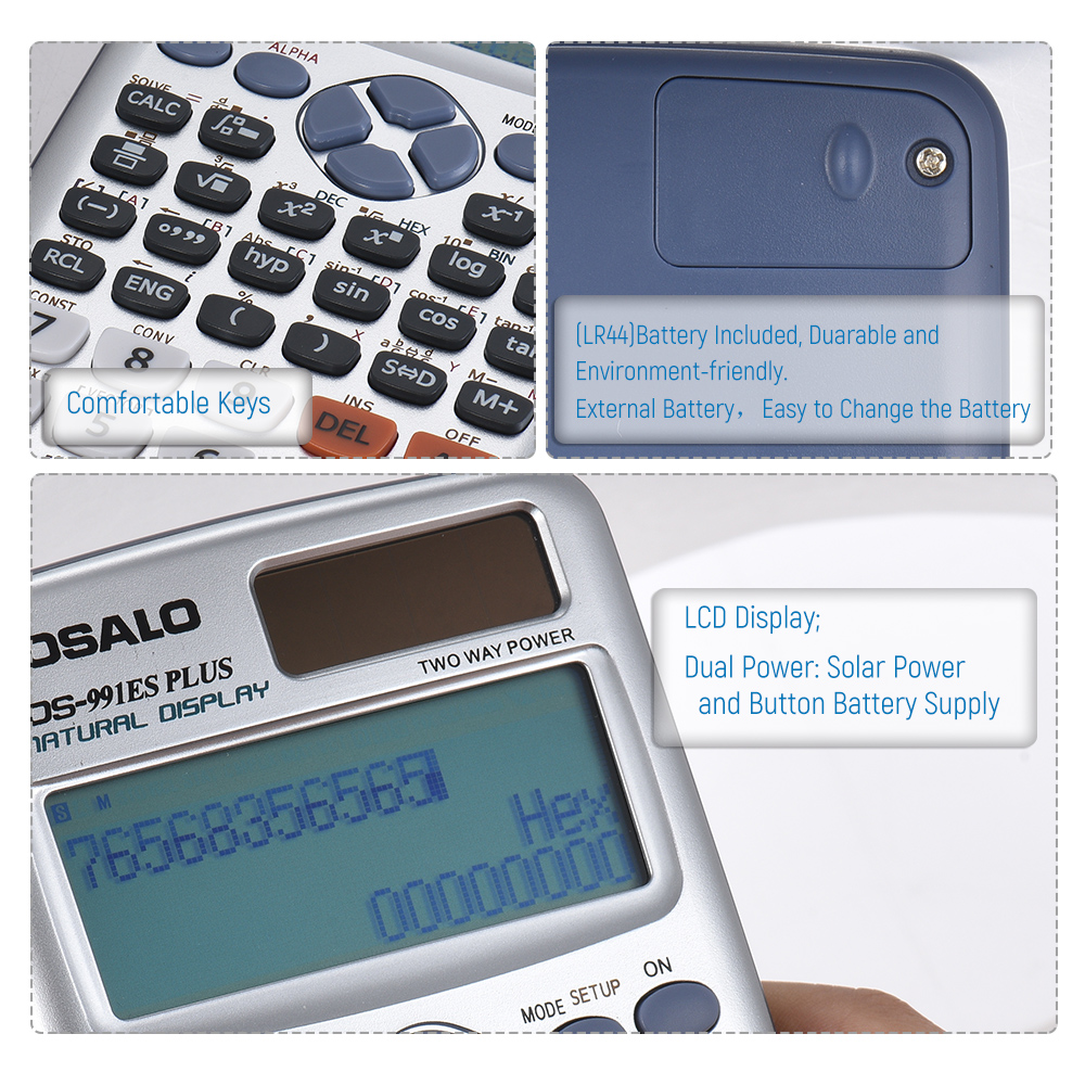 Osalo Os 991es Plus Cientific Calculator Engineering Scientific Calculations For Power Supplies Dual Supply Calculadora With 417 Functions In Calculators From Computer