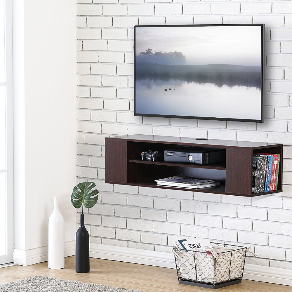 Floating TV stand Wall Mount TV cabinet Media Console Entertainment Center TV Stand DS210001WB