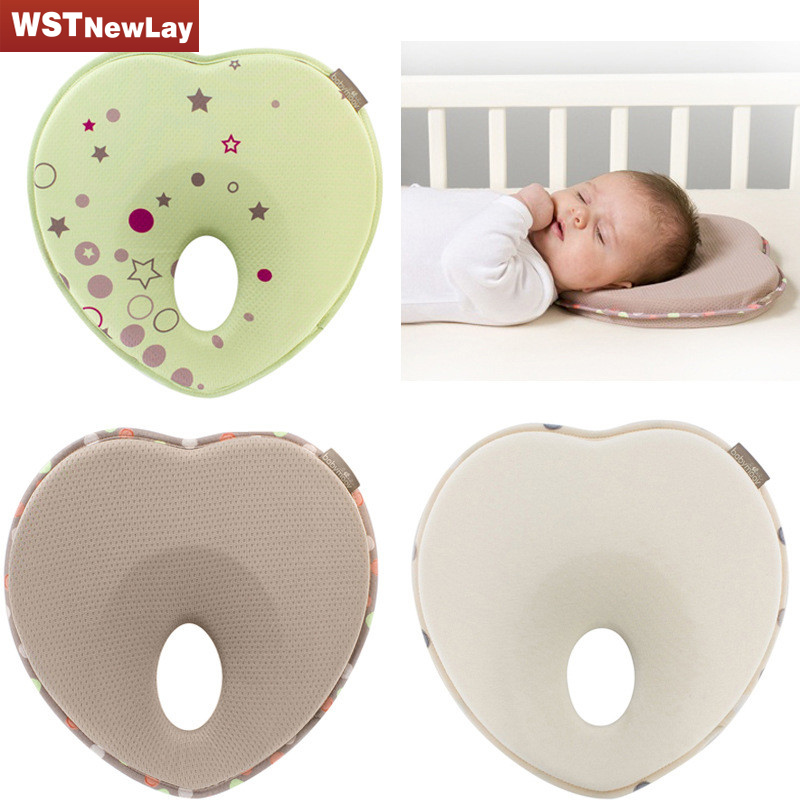 Hot Baby Pillow Shape Toddler Sleep Positioner Anti Roll Cushion Flat Head Pillow Protection Of Children Free Shipping