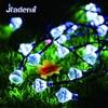 Jiaderui LED Solar Outdoor Waterproof Holiday String Light 5m 40LEDs Garden Home Decoration Fairy Diamond Christmas