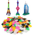 New Arrival 400 pcs Multicolor Kids Snowflake Building Puzzle Blocks Educational Xmas Toys Bricks DIY Assembling Classic Toy